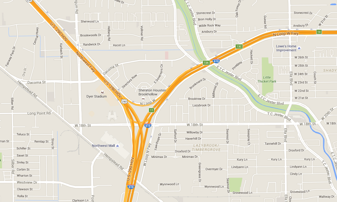 Ih 610 Us 290 Interchange Reconstruction Houston Tx Idcus